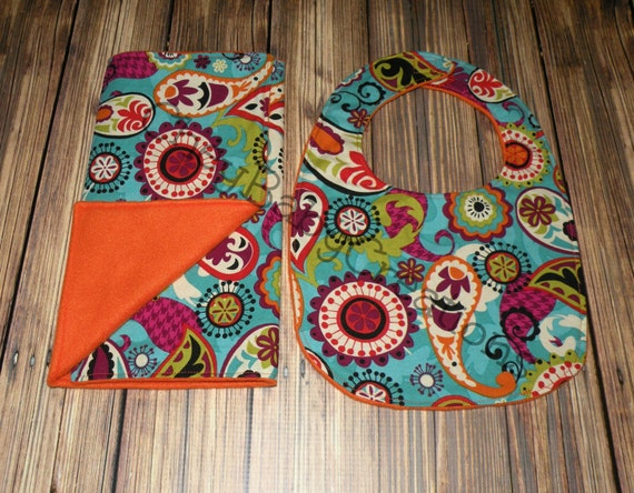 Bib and Burp Cloth bib and burp cloth set Polar Fleece Bib | Etsy