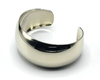 3e76e7c2b9041 Wide silver cuff | Etsy