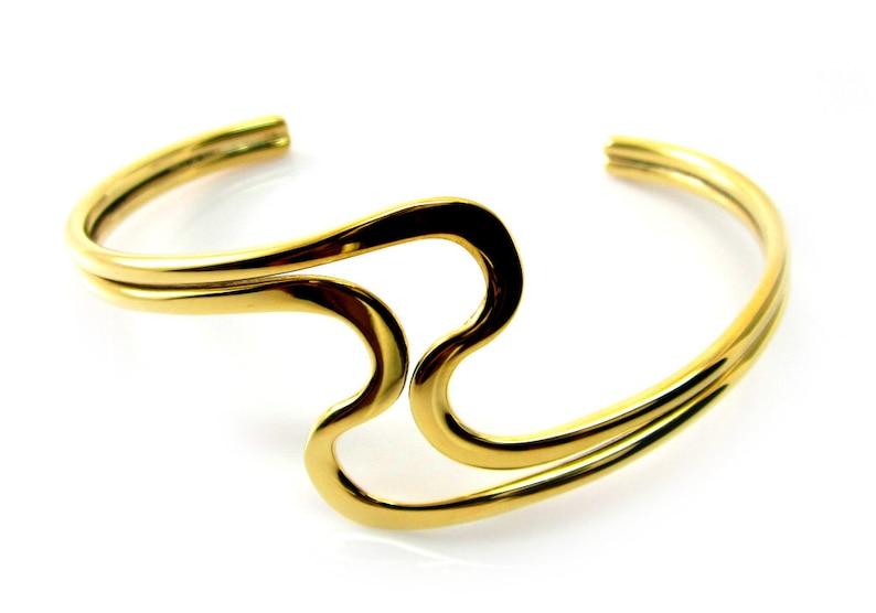 Gold Cuff Bracelet Gold Bracelet Cuff Gold Brass Cuff Bracelet Gold Brass Bracelet Cuff Gold Curve Bracelet Cuff Curve Cuff Bracelet 093