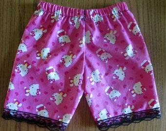 ea1a53a5d Hello Kitty shorts /girls shorts/cotton shorts/lace shorts/hello kitty  clothes/gift for girl/girls gift/Hello Kitty