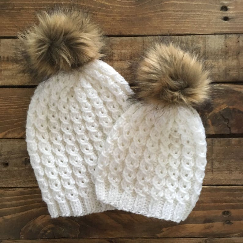 98cf6c3f8 Mommy And Me Hats > Mom And Me Hats > Matching Hats > Baby And Mommy Hats >  Baby Hats > Fur Pom Pom hat > Beanie > Toddler Hats