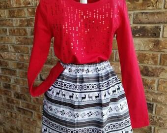 Christmas Holiday Skirt