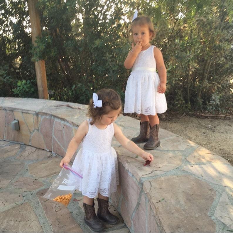 cc6762c8a1e White 18 months 2T 3T 4T 5T 6 8 10 Flower Girl Dress Girl