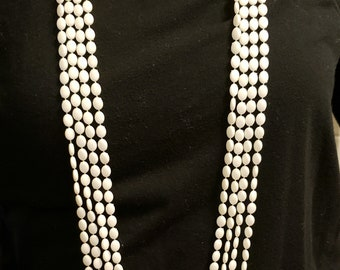 Vintage Extra Long Four Strand Necklace