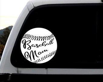 Baseball Decal Mom Gift Birthday Present Small Gifts Under 10 Ball Home Run Coach Sticker