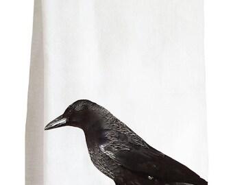 RAVEN - 100% Cotton Flour Sack Kitchen Tea Towel