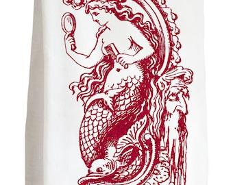 MERMAID - 100% Cotton Flour Sack Kitchen Tea Towel