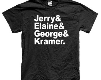 SEINFIELD THE NAMES jerry show t-shirt long and short sleeve many colors unisex