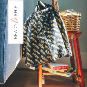 Spell Bound Swaddle Blanket ~ Muslin Swaddle Blanket ~ Newborn Gift ~ Lightweight Baby Blanket ~ Quick Ship