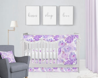 Superieur Purple Crib Bedding | Etsy