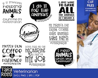 Veterinarian SVG and Cut Files for Crafters