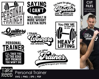 Personal Trainer - Fitness SVG and Cut Files for Crafters
