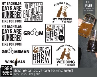 Bachelor Days are Numbered - Bachelor Party SVG and Cut Files for Crafters