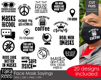Face Mask Sayings For Teachers Svg And Cut Files For Etsy