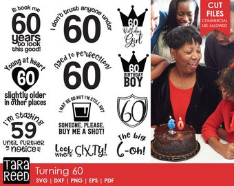 60 Birthday Svg