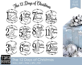 12 days of christmas christmas svg and cut files for crafters