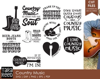 db2100072a2cae Country Music - Music SVG and Cut Files for Crafters