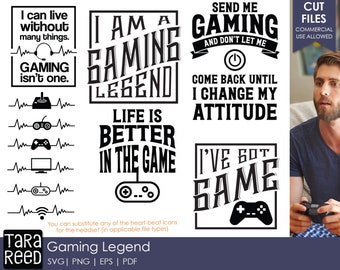 Gaming Legend - Video Games SVG and Cut Files for Crafters