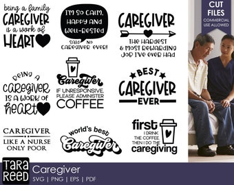 Caregiver SVG and Cut Files for Crafters