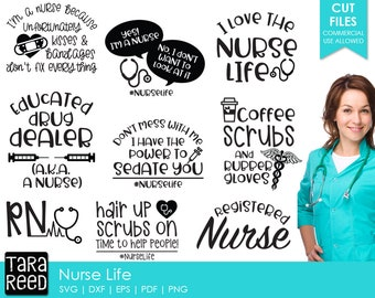 00d5c1a376f Nurse Life - Nurse SVG and Cut Files for Crafters