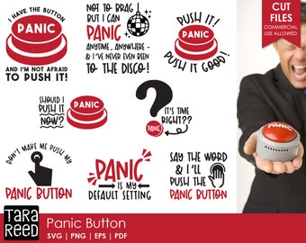 Panic Button  SVG and Cut Files for Crafters