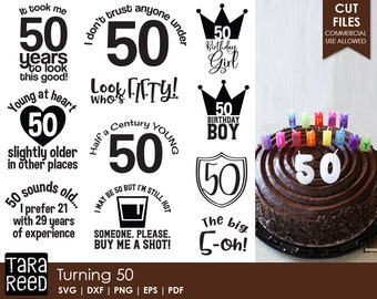 50th Birthday Svg