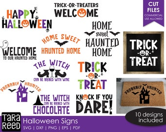 Halloween Signs SVG and Cut Files