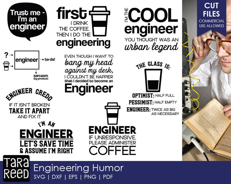Engineering Humor  Engineer SVG and Cut Files for Crafters image 0