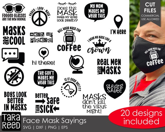 Face Mask Sayings Svg And Cut Files For Crafters Etsy