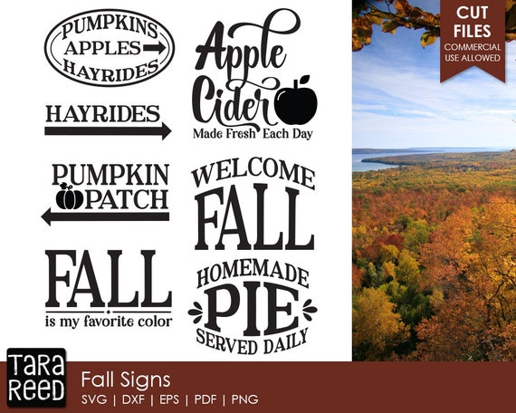 Fall Signs Svg Welcome Sign