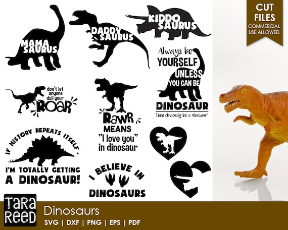 Dinosaur Svg And Cut Files For Crafters Etsy