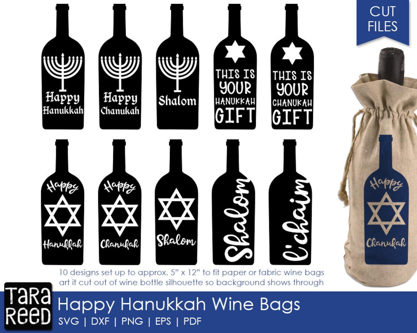 Hanukkah mini fabric bowls