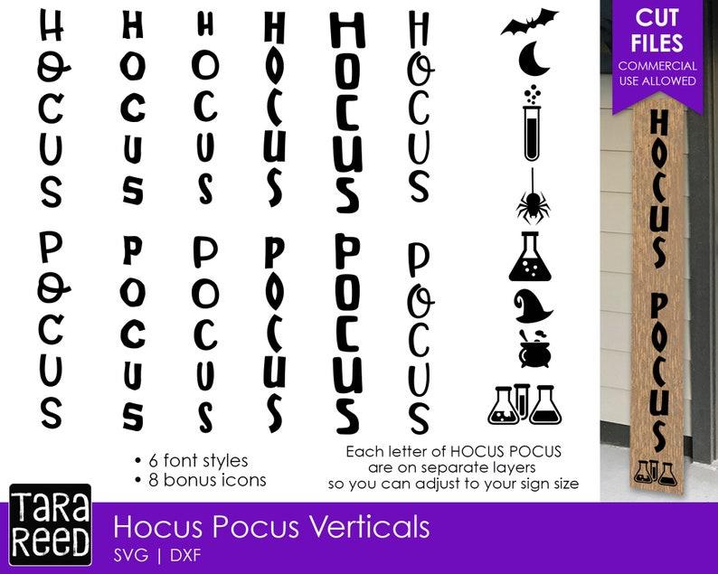 Hocus Pocus Vertical Signs - Halloween SVG files