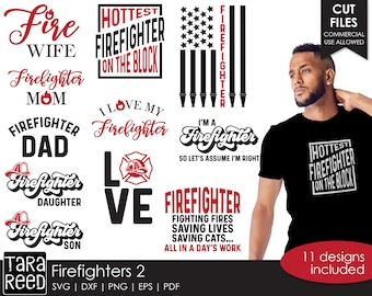 Firefighter SVG and Cut Files for Crafters