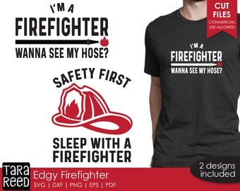 Edgy Firefighter SVG and Cut Files for Crafters