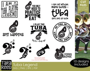 Tuba Legend - Tuba SVG and Cut Files for Crafters