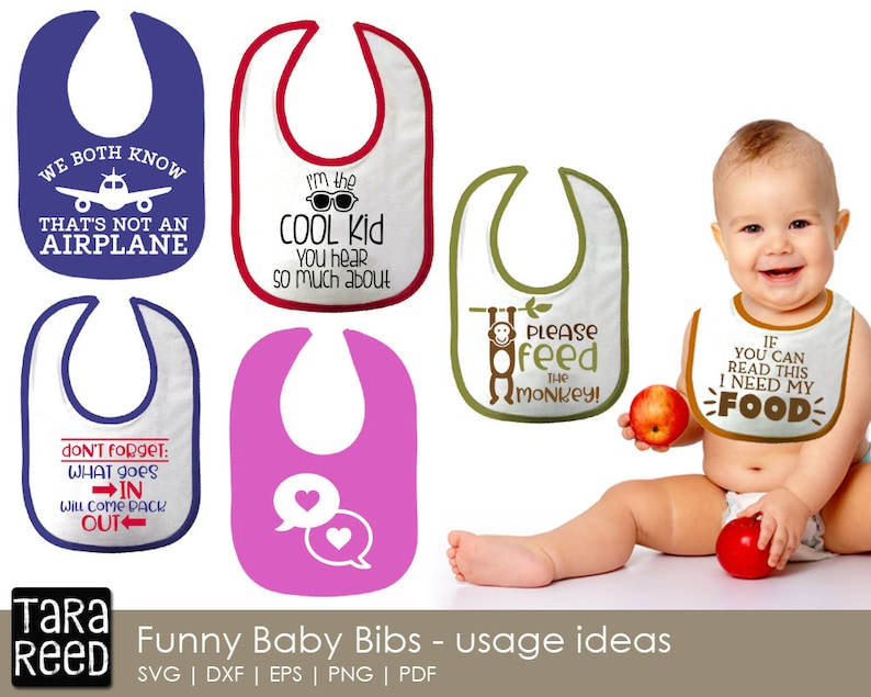Baby Bibs Baby SVG and Cut Files for Crafters   Etsy