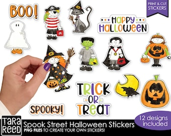 Halloween Print and Cut Sticker Bundle