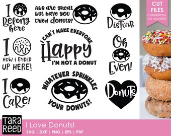 Donuts svg / Donut Humor svg / Donut svg bundle / svg files / svg for Cricut / svg for Silhouette / svg bundle