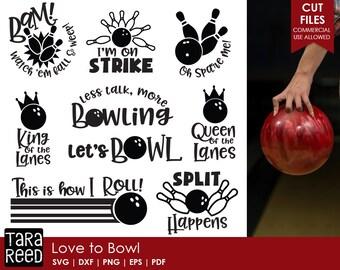 Bowling svg / Bowling svg bundle / Queen of the Lanes / Bowling league svg / svg files / svg for Cricut / svg for Silhouette / svg bundle