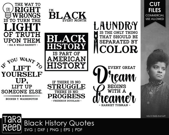 Black History Quotes - SVG and Cut Files for Crafters
