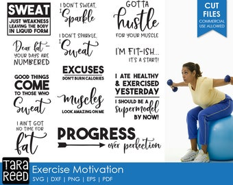 Exercise Motivation svg / exercise svg / fitness svg / funny fitness svg / workout svg / svg files / svg for cricut / svg for silhouette