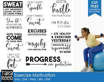 Exercise Motivation svg / exercise svg / fitness svg / funny fitness svg / workout svg / svg files / svg for cricut / svg for silhouette