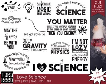 I Love Science - School SVG and Cut Files for Crafters