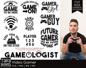 Gamer svg / Video Gamer svg / Video Games svg / svg bundle / svg files / svg for Cricut / svg for Silhouette / cut files