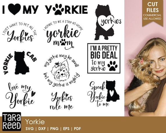 Yorkie Yorkshire Terrier Svg And Cut Files For Crafters Etsy