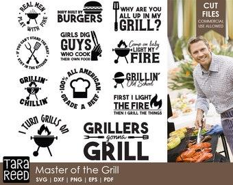 Master of the Grill / Grill svg / Grilling svg / Barbeque svg / Cookout svg / svg files / svg for Cricut / svg for Silhouette / svg bundle