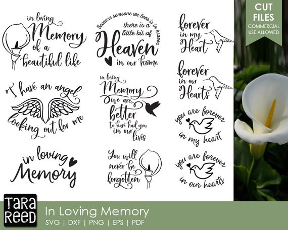 In Loving Memory Grief Svg And Cut Files For Crafters Etsy