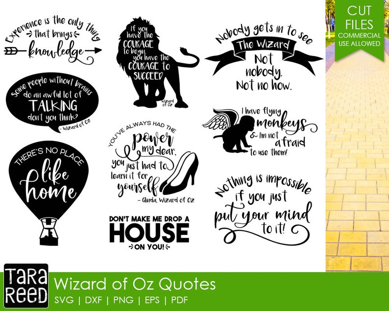 Wizard Of Oz Quotes SVG And Cut Files For Crafters