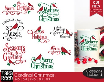 Cardinal Christmas SVG and Cut Files for Crafters
